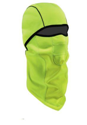SGH658 N-Ferno 6823 Wind-Proof Hinged Balaclava Material: Fleece Colour: High-Visibility Lime Green ERGODYNE #16834