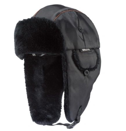SEL907 N-Ferno 6802 Classic Trapper Hat Outer Material: Nylon Lining Material: Synthetic Fur Colour: Black ERGODYNE 2 SIZES: (SML/MED) (LAR/XLR)