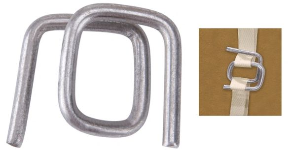 """PA502 Buckles, STEEL Wire 1/2""""Width HD 1000/BOX CORDEX #B-4S (fits any 1/2"""" Polypropylene Strapping)"""