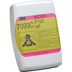 SAQ696 3M #7093 P100 w/Hydrogen Fluoride and Nuisance Level Acid Gas Respirator Particulate Filters 2/PK