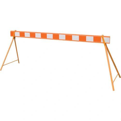 "SAO204 Street Barricade WARNING BOARD STRIPED 8H"" x 8'L x 2""W"