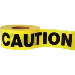 "SED020 Barricade Tape ""Caution"" ENGLISH 3"" x 1000' BLACK ON YELLOW"