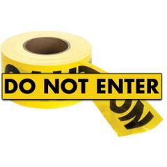 "SED021 Barricade Tape ""Do Not Enter"" ENGLISH 3"" x 1000' BLACK ON YELLOW"