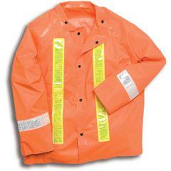 SAI148 Contractor - JACKETS High-Visibility 9oz PVC/Scrim Nylon LARGE ONLY ORANGE RANPRO