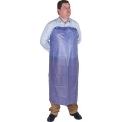 SEE888 APRON, VINYL Bib Style .02mm Thick Blue Accepted Candian Food Facilities