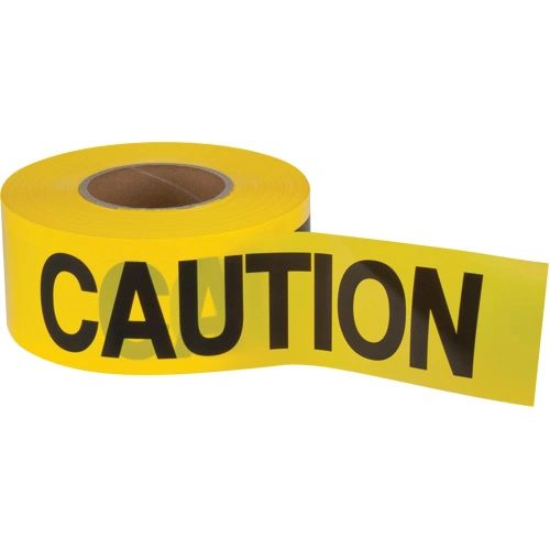 "SEK397 Barricade Tape ""CAUTION"" ENGLISH 3"" x 1000' BLACK ON YELLOW ZENITH Distancing"