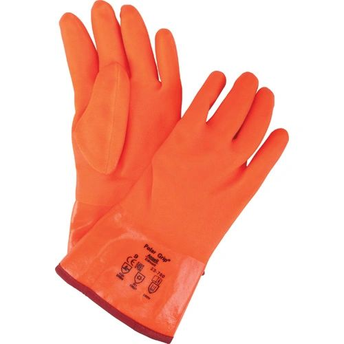 "SEA274 GRIP, POLAR GLOVES #23-700 PVC - 11"" NYLON SOFT LINING Ansell CFP"