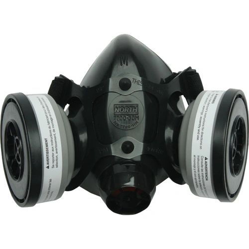 ZC352 RESPIRATOR, SERIES #7700 HALF-MASK NORTH Sz's S-L Black