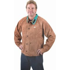 "TTU398 Lava Brown Leather Jackets MEDIUM - Chest 40-42"" (LRG-5XL) WELD-MATE"