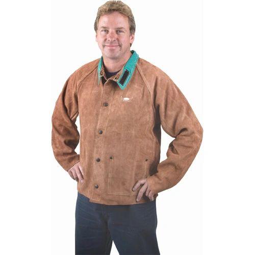 TTU398 Lava Brown Leather Jackets (LRG-5XL) WELD-MATE