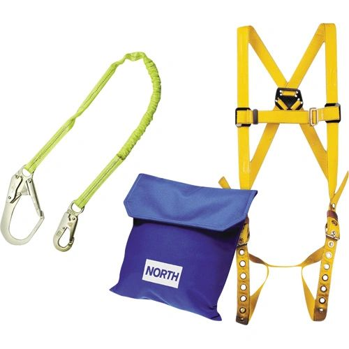SAJ342 Scaffolding/Forming Fall Protection Kit w/6' Lanyard XLRG SIZE Harness CSA Class: A