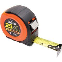 IA627 MEASURE TAPE, INCH/FOOT 25' SOFT TOUCH LOCK 4-RIVET END Lufkin
