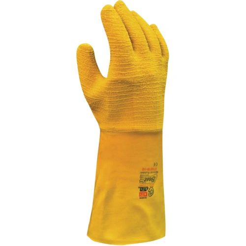 "SAJ984 Nitty Gritty® Full Rubber Palm Coated Gloves, 12"" Safety Cuff, Large MENS #65NFW SHOWA"
