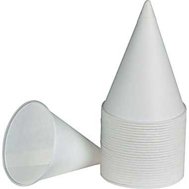 OD034 Paper, Cone Cups - 4oz 200/PK (Fits Standard Cup Dispenser)