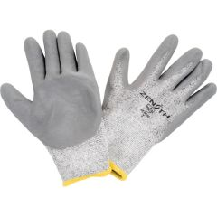 SEB090 GLOVES, POLYETHYLENE GLOVES Nitrile Palm Elastic Knit Wrist SZ 7 (8-11) Superior Grip Zenith