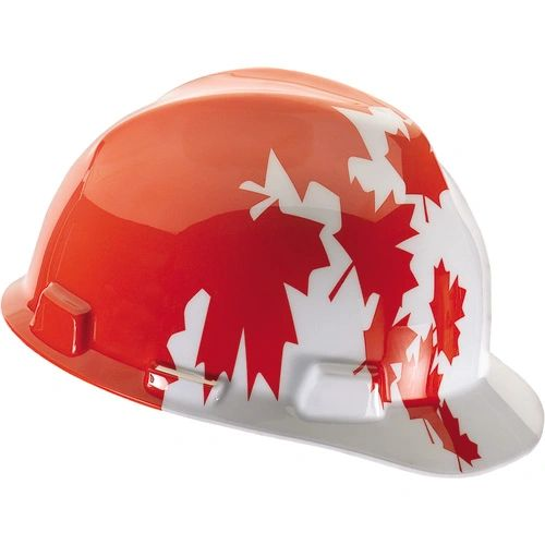 SAM667 MSA Safety Works FAS-TRAC Maple Leaf Hard Hat V-Gard® #10050613