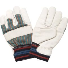 SEH145 Superior Quality Grain Cowhide Full Cotton Fleece-Lined Gloves, MEDIUM ZENITH (Large)