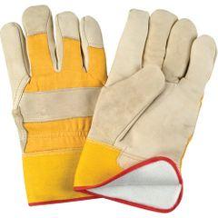 SM611 Grain Cowhide Fitters Foam Fleece Lined Gloves, Large ZENITH (X-LR)