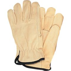 SM616 Grain Cowhide Drivers Fleece Lined Gloves, SMALL- 2XLARGE