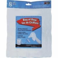 KP043 BAG of RAGS WIPE CLOTH 100% COTTON 8PACK WIPECO