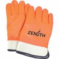 "SAP922 PVC Gloves, 12"" SAFETY CUFF Winter Lined LARGE ZENITH"
