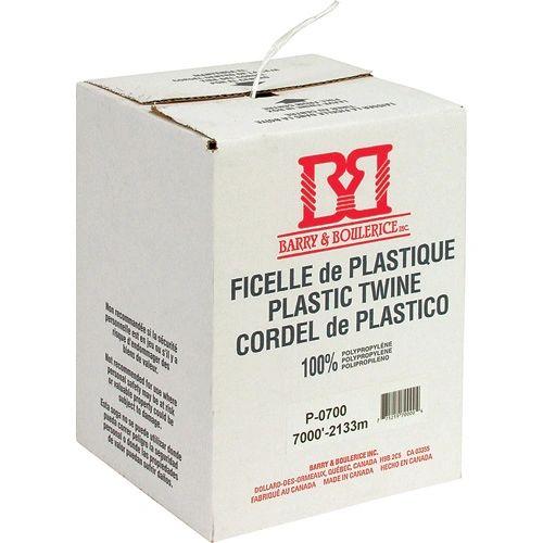 PA822 TWINE, PLASTIC White tying twine 7,000' length 180 lbs. Tensile #J1P/0700