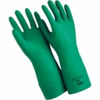SAY001 Sol-Vex® NITRILE #37-185 GREEN 18 Inch x 22 mil Gloves, SZ (8-10)