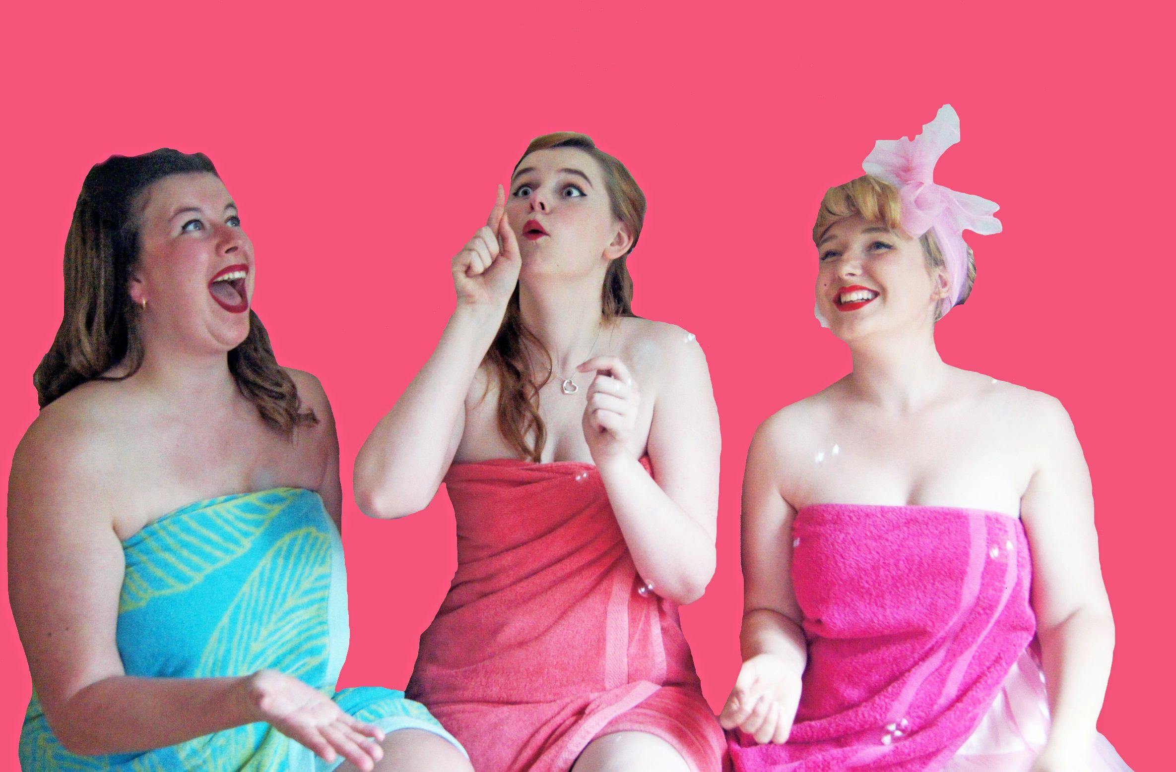Comedy trio: Cherry, Squeaky and Bubbles from Washdown Cabaret
