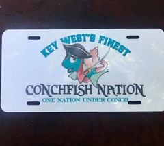 Conchfish Nation Pirate License Plate