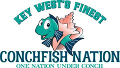 Conchfish Nation Flag-BLACK CARD Holders