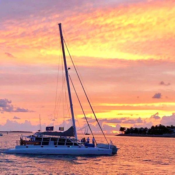 Conchfish Sunrise Sail on Argo Navis Yacht Sponsored by Beach Buddah Coffee