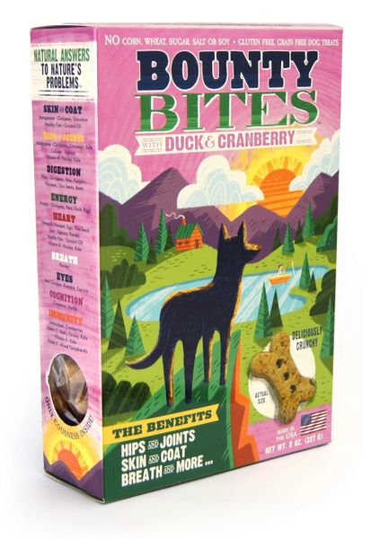 Treats: Bounty Bites Grain-free Duck and Cranberry Treats