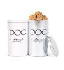 Storage: Recycle Steel Dog Treat Cannister