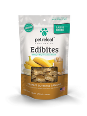 CBD EDIBITES LARGE BREED -- peanut butter and banana