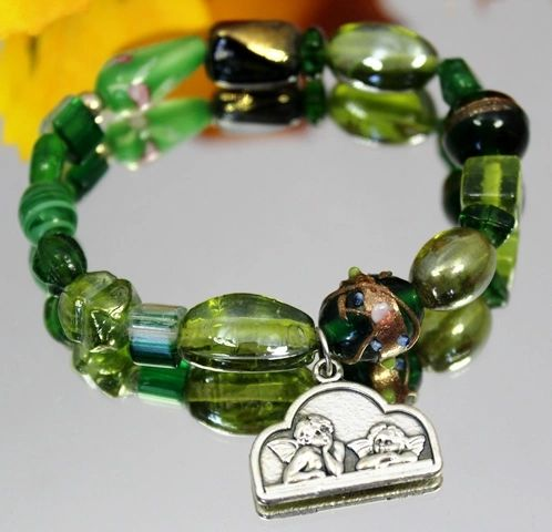Green Angel Stretch Bracelet