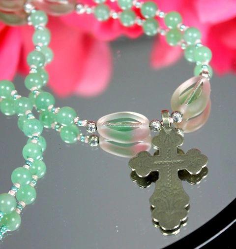 Aventurine & Czech Glass Necklace