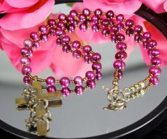 Easter Lily Cross Necklace