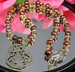 Our Lady With Angels Necklace