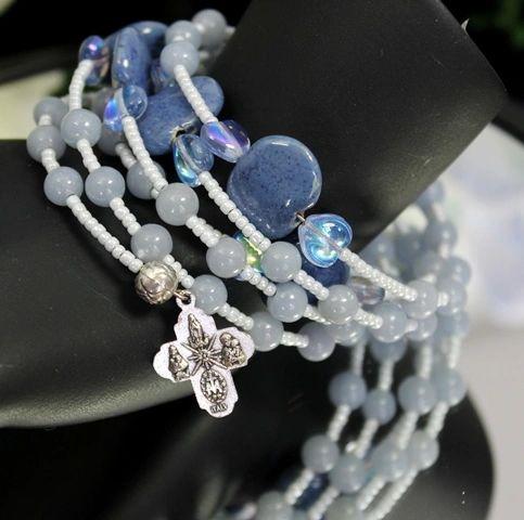 Angelite Rosary Bracelet