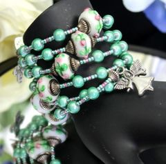 Green Wonder Bead Rosary Bracelet