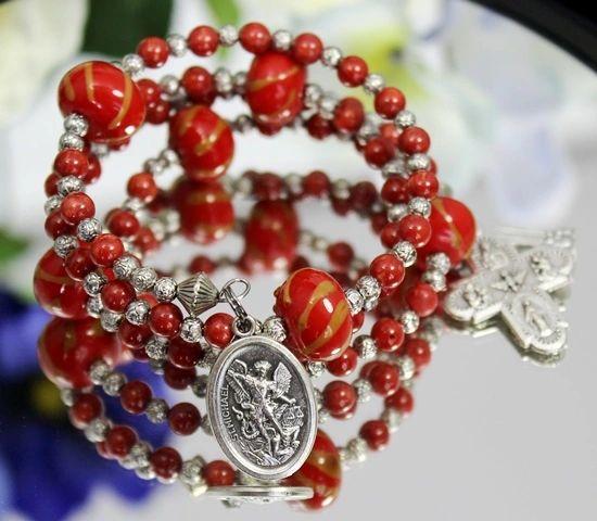 St. Michael Rosary Bracelet