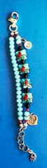 Cardinal Bracelet featuring Grace Lampwork Beads