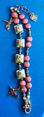 Pastel Flowers featuring Grace Lampwork Beads with Humming Bird Charm