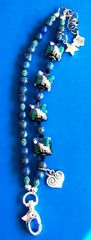 Wolf Bracelet featuring Grace Lampwork Beads