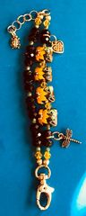 Sun Flower Bracelet featuring Grace Lampwork Beads