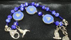 Blue Heart Bracelet featuring Czech Glass Beads