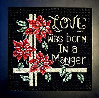 Love Was Born In A Manager Bobbie G Designs Stitch By