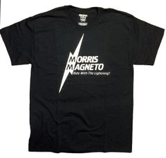Morris Magneto Black shirt (white logo)