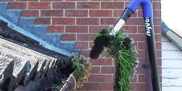 gutter vac in action
