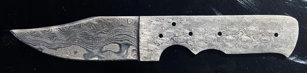 Damascus Knife Blank 130
